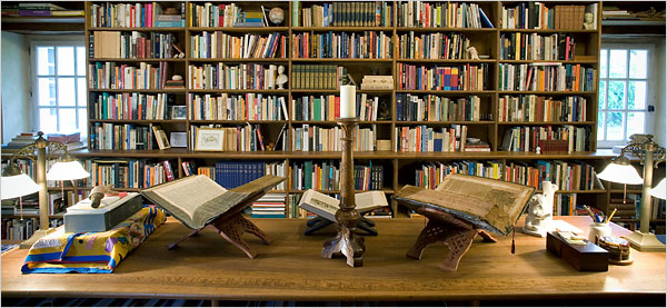 Personal Library in home of Alberto Manguel