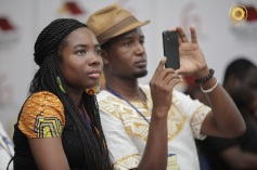 Kuukuwa and Kobby, MCs of #BlogCamp13