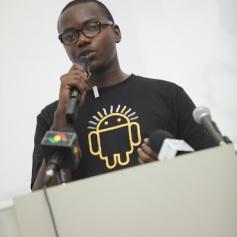 MJ giving presentation on Internet Freedom