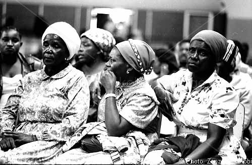 Zimbabwean women at Independence, 1980.  A Zenzo Nkobi photo.