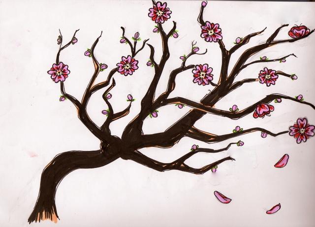 cherry_blossom_sketch_by_ki_killerrr-d3fois6