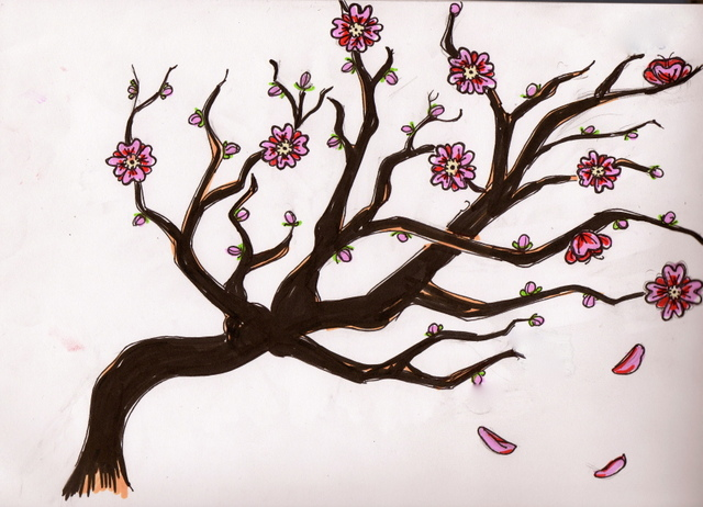 cherry_blossom_sketch_by_ki_killerrr-d3fois6